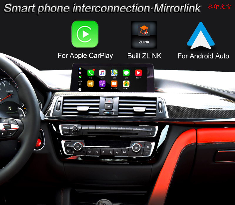 Android Multimedia Video Interface Box for BMW 3 Series GT/ M2 EVO ID6 System Wireless CarPlay / Andrio Auto